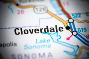 Cloverdale CA map