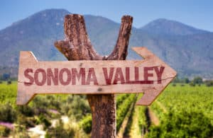 Sign with Sonoma Valley CA